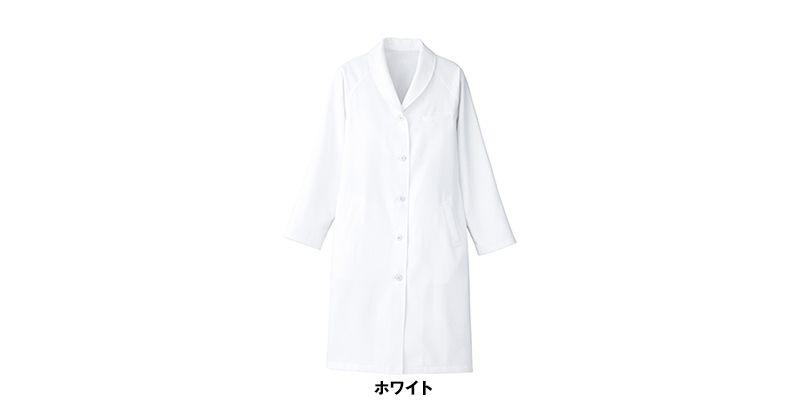 861312 アイトス/ルミエール ドクターコート(女性用) ショールカラー診察衣 色展開
