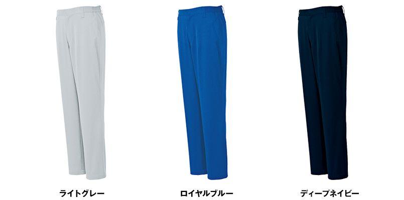 AZ3620 アイトス ノーポケット シャーリングパンツ(ノータック)(男女兼用) 色展開