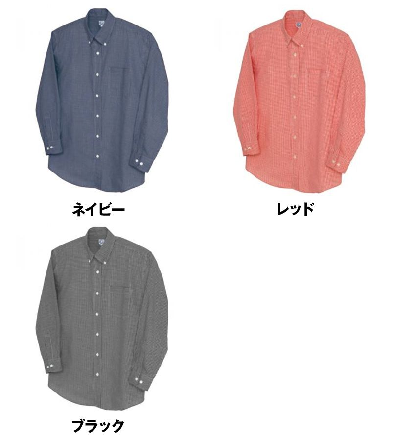 AZ7824 アイトス カナディアンクリーク 長袖T/Cギンガムチェックシャツ(男女兼用) 色展開