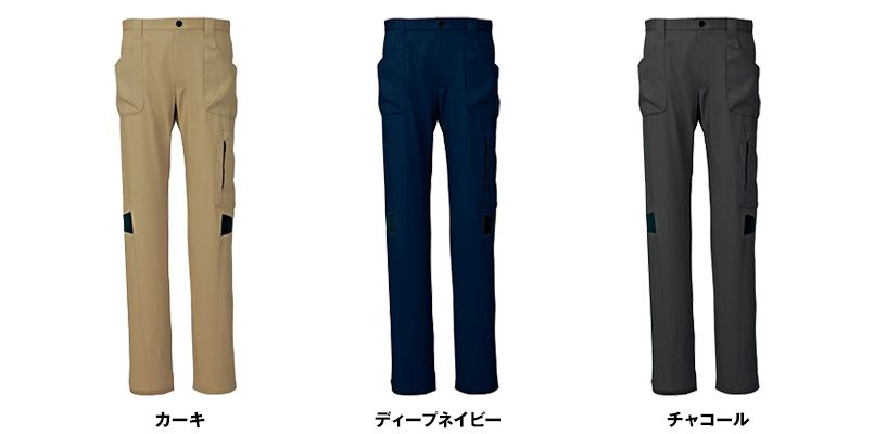 AZ7844 アイトス ストレッチパンツ(男女兼用) ノータック 秋冬・通年 色展開