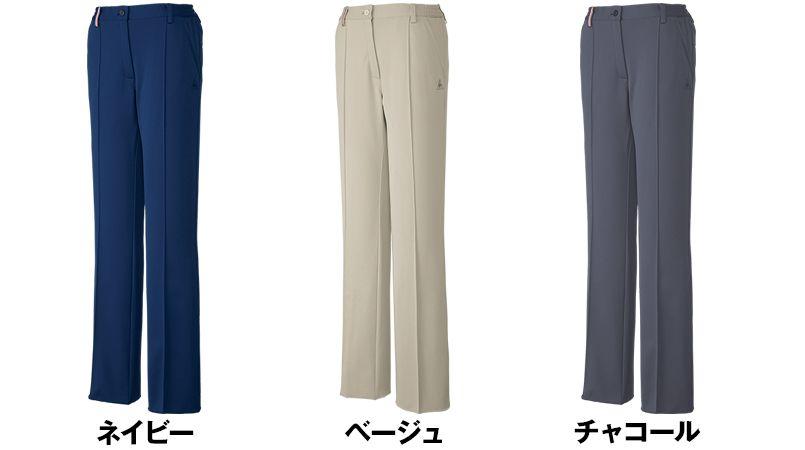 UZL4013 ルコック ジャージ 脇ゴムニットスラックスパンツ (女性用) 色展開