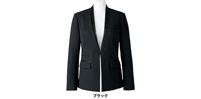 BONMAX AJ0243 [通年]インプレス 前ホック留めのジャケット 無地 色展開