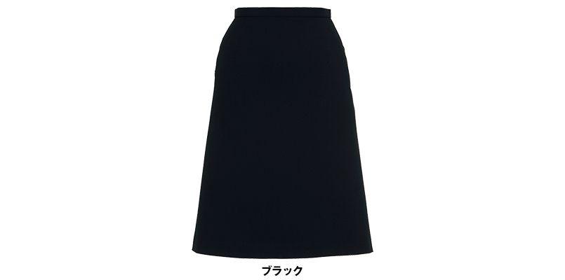 BONMAX AS2258 [通年]トリクシオンヘリンボーン  Aラインスカート 無地 2WAYストレッチ 色展開