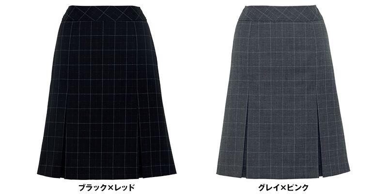 BONMAX AS2269 [通年]セゾン プリーツスカート チェック 色展開