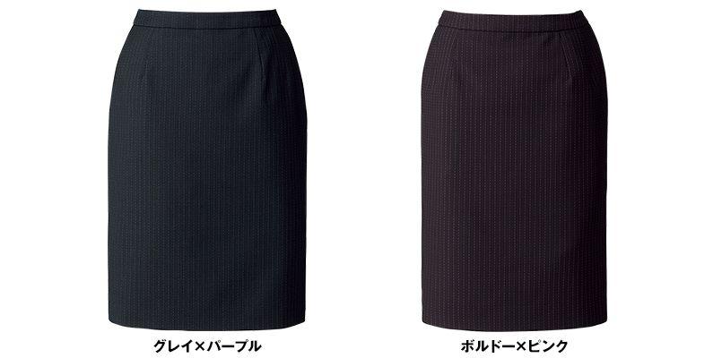 BONMAX AS2287 [通年]オピニオン タイトスカート ストライプ[後ろゴムでラク] 色展開