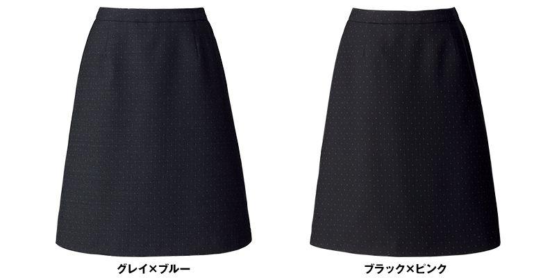 BONMAX AS2288 [通年]ディライト Aラインスカート ドット 色展開