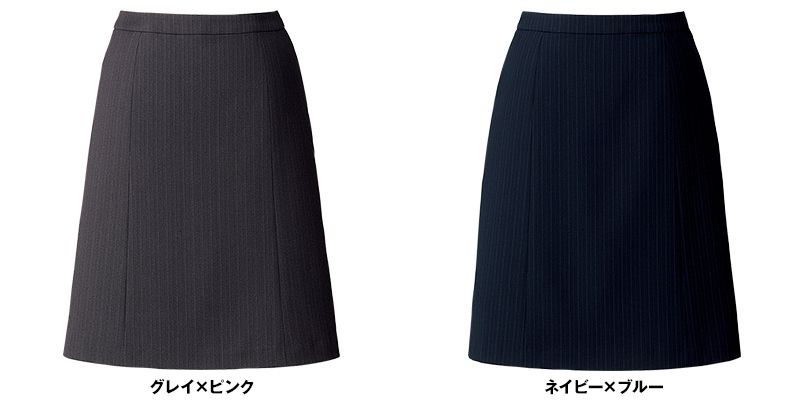 BONMAX AS2290 [通年]リゲル Aラインスカート ストライプ 色展開