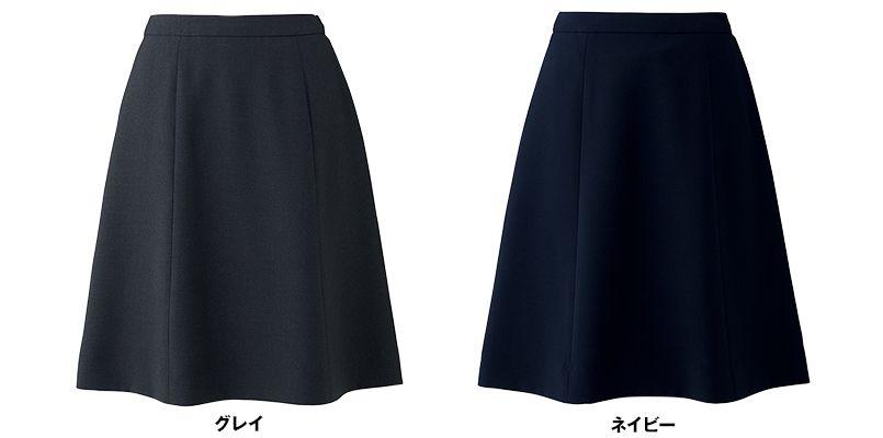 BONMAX AS2292 [通年]トリクシオントロピカル フレアースカート 無地 色展開