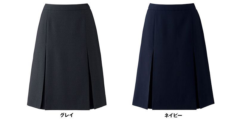 BONMAX AS2293 [通年]トリクシオントロピカル プリーツスカート 無地 色展開