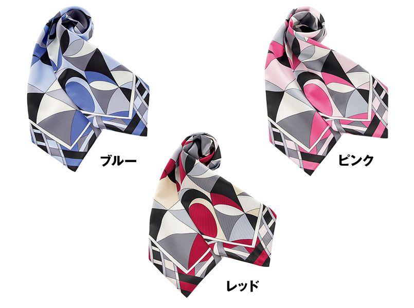 BONMAX BA9136 都会的なパターンが魅力の正統派スカーフ 色展開