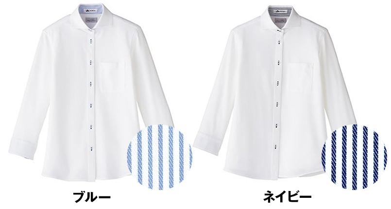 FB4020L FACEMIX 吸汗速乾ニットブラウス/七分袖(女性用) 色展開