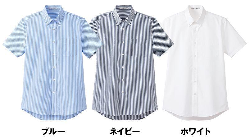 FB5031M FACEMIX ストライプ調温シャツ/半袖(男性用) 色展開