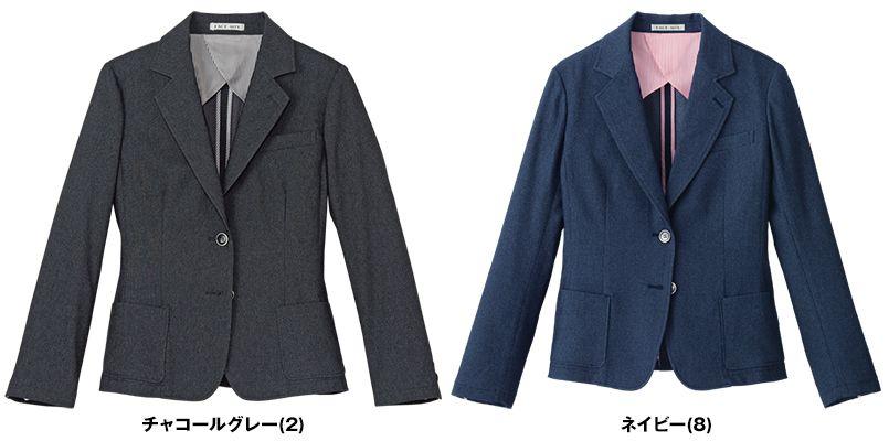 FJ0311L FACEMIX デニム調カジュアルジャケット(女性用) 色展開