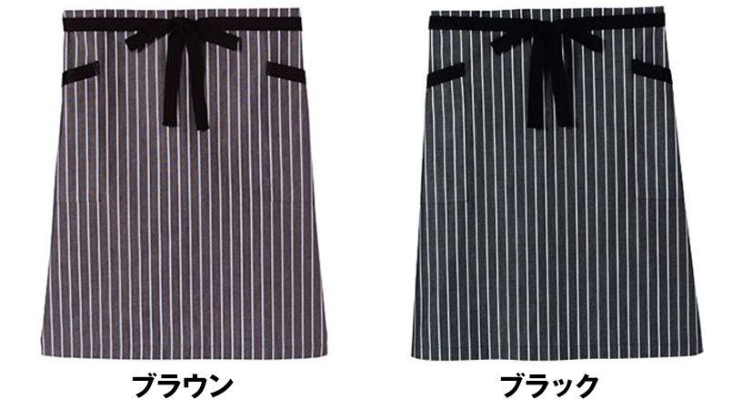 FK7124 FACEMIX ストライプ柄ミドルエプロン(男女兼用) 色展開