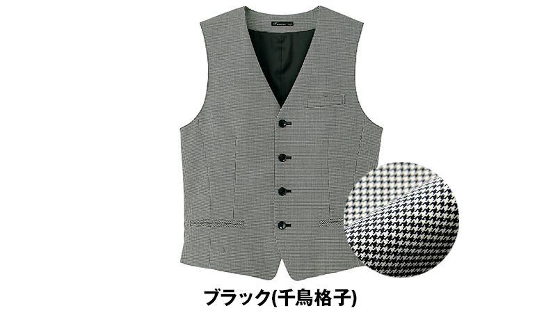 FV1010M FACEMIX/GRAND(グラン) 千鳥格子 ベスト(男性用) 色展開