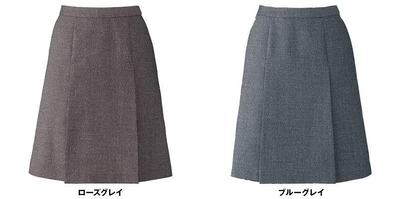 BONMAX LS2191 [通年]エミュ ペッパーツイード素材のプリーツスカート 無地 色展開