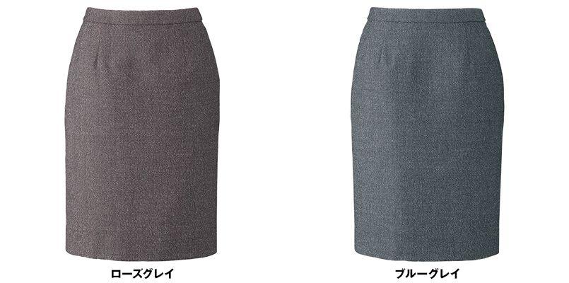 BONMAX LS2192 [通年]エミュ ペッパーツイード素材のタイトスカート 無地 色展開