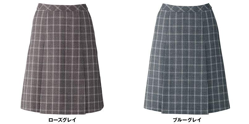 BONMAX LS2193 [通年]エミュ ツイード素材のプリーツスカート チェック 色展開