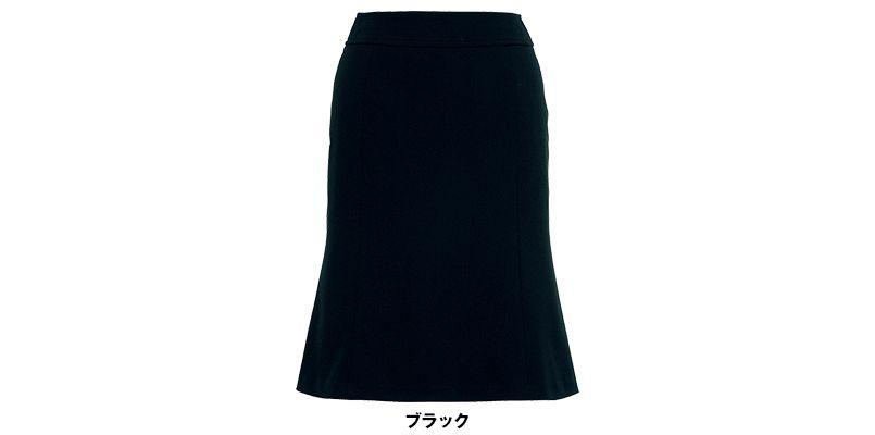 LS2736 BONMAX/フレキシー マーメイドスカート ニット 無地 色展開