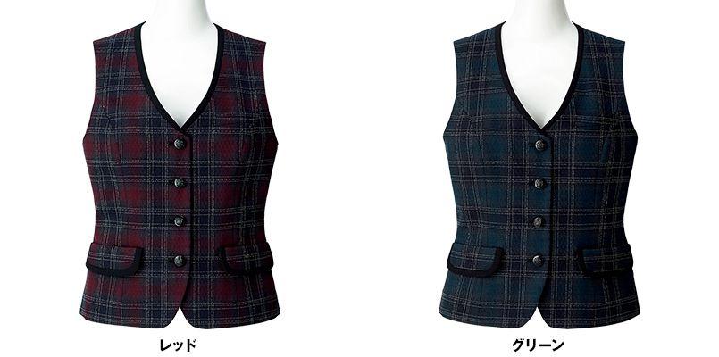 BONMAX LV1177 [通年]シャンテ ベスト 洗濯OK チェック 色展開