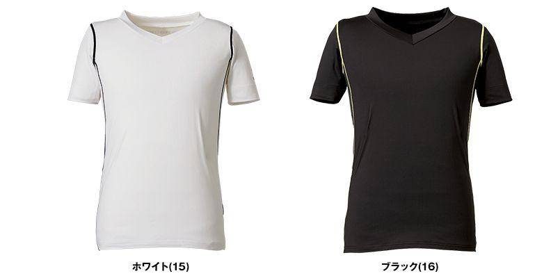 RC3904 ROCKY Vネック半袖コンプレッション(男性用) 色展開