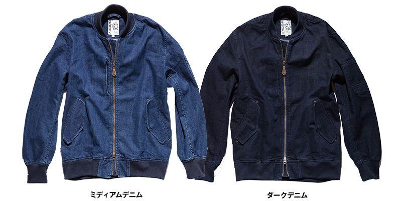 ROCKY RJ0907 デニムMA-1ミリタリージャケット(男女兼用) 色展開