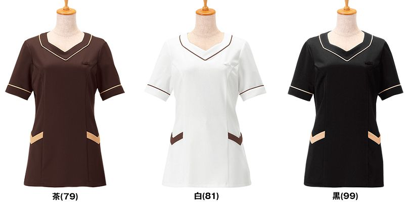 00105 BONUNI(ボストン商会) ニットワッフルシャツ/半袖(女性用) 色展開