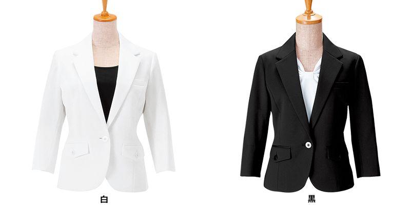00106 BONUNI(ボストン商会) 七分袖/ニットワッフルジャケット(女性用) 色展開