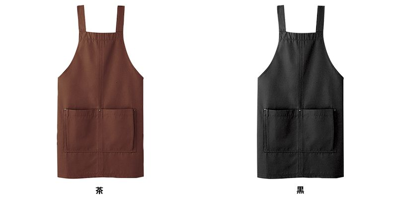 03197 BONUNI(ボストン商会) 胸当てH型エプロン(男女兼用) キャンバス 色展開