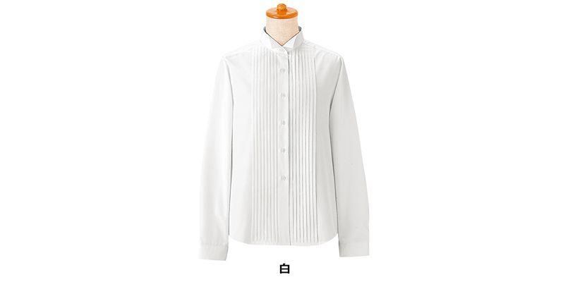 14210 BONUNI(ボストン商会) ピンタックシャツ/長袖(女性用)(ループ付) 色展開