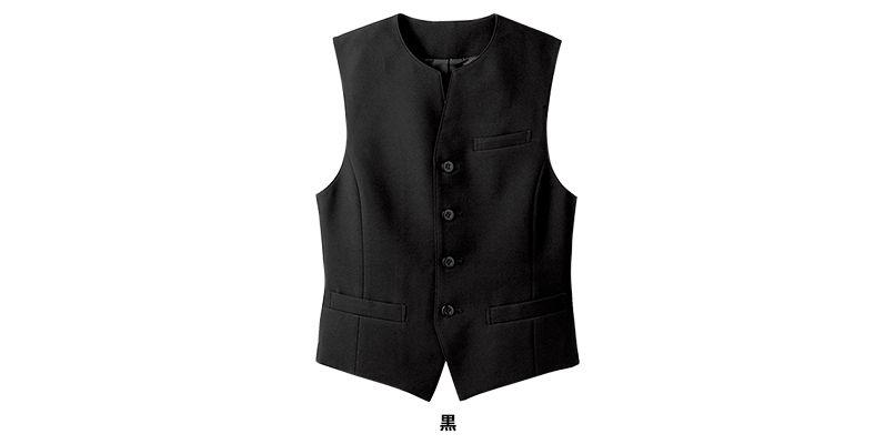 15302 BONUNI(ボストン商会) フォーマル ベスト(男女兼用) 丸襟ノーカラー 色展開