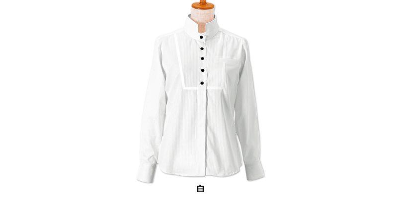 24212 BONUNI(ボストン商会) シャツ/長袖(女性用) ドビーストライプ 色展開