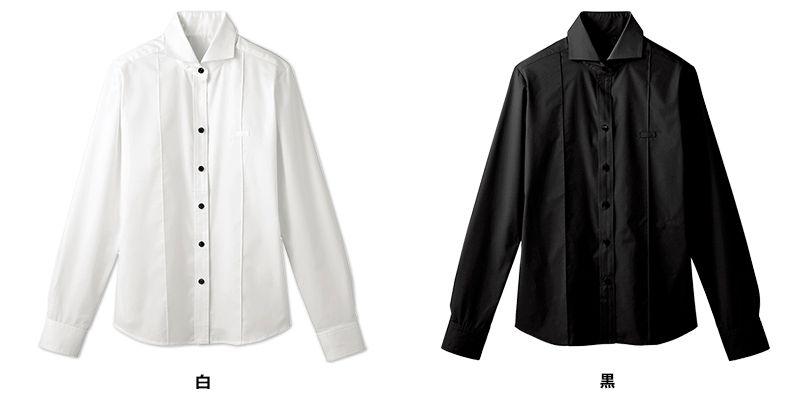 24215 BONUNI(ボストン商会) ホリゾンタルカラーシャツ/長袖(女性用) 色展開