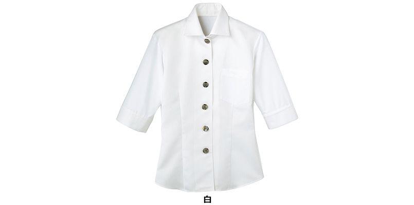 24218 BONUNI(ボストン商会) Tブラウス/五分袖(女性用) ストライプ 色展開