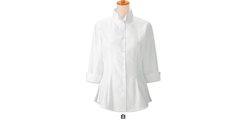 24223 BONUNI(ボストン商会) オックスシャツ/七分袖(女性用) 色展開