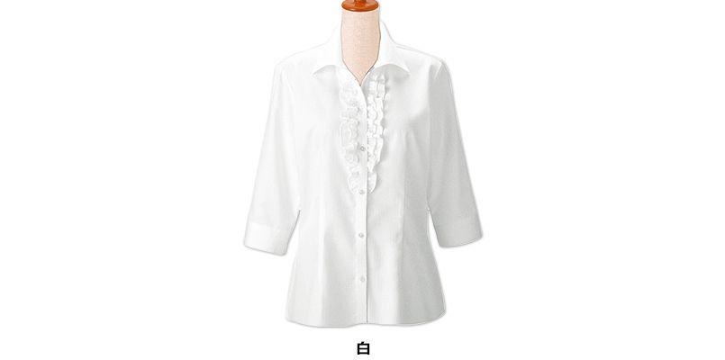 24226 BONUNI(ボストン商会) シャツ/七分袖(女性用) 2重フリル 色展開