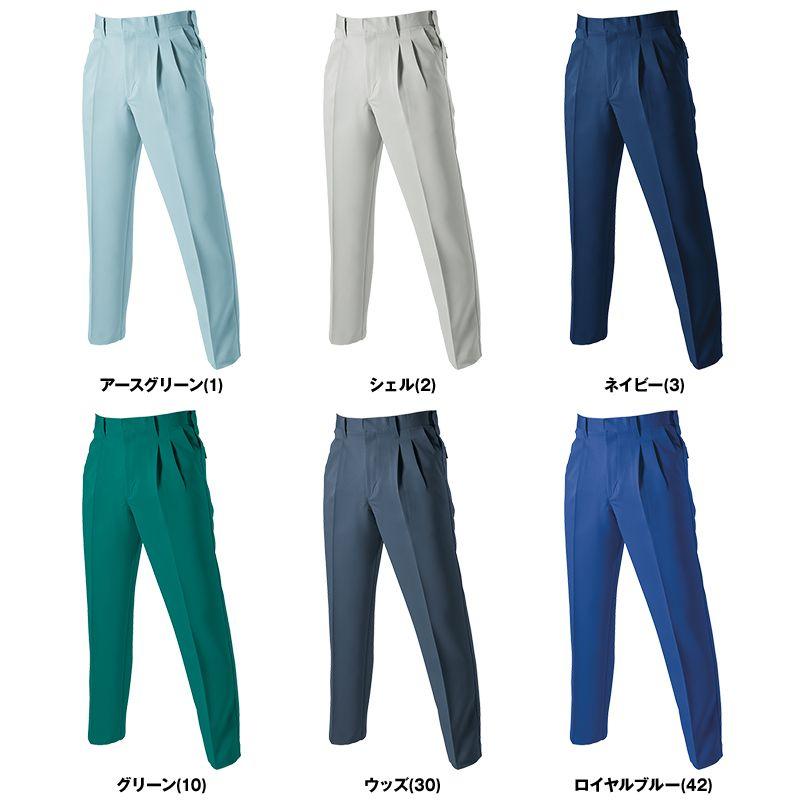 バートル 9003 制電ストレッチツータックパンツ(男女兼用) 色展開