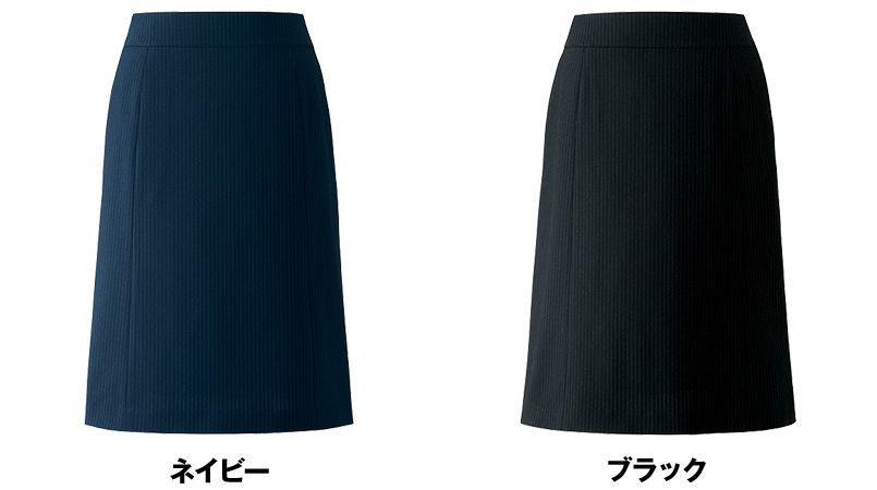 アルファピア AR3668 [通年]Aラインスカート ストライプ [吸汗速乾/軽量/形態安定] 色展開