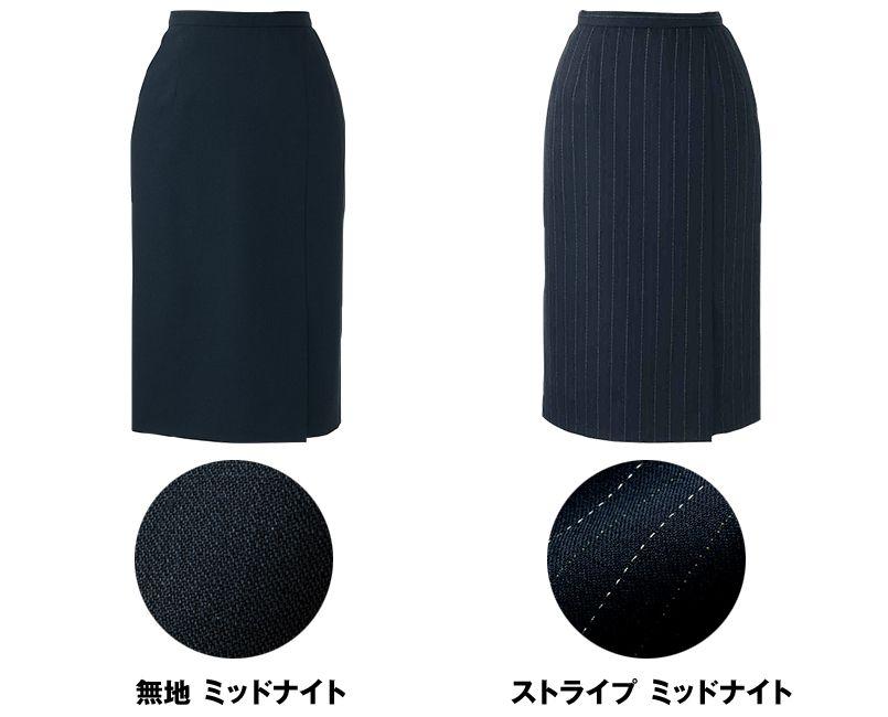アルファピア AR3800 [秋冬用]左前プリーツ入りタイトスカート 色展開