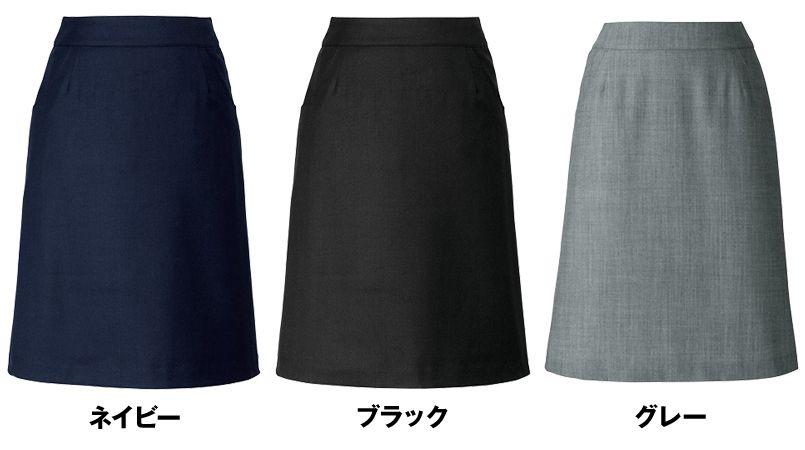 AR3833 アルファピア [秋冬用]Aラインスカート 無地[防シワ加工] 色展開