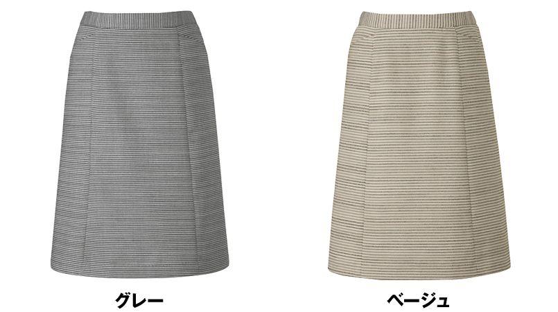 AR3846 アルファピア [通年]Aラインスカート プレシャスリブ ツイードボーダー 色展開