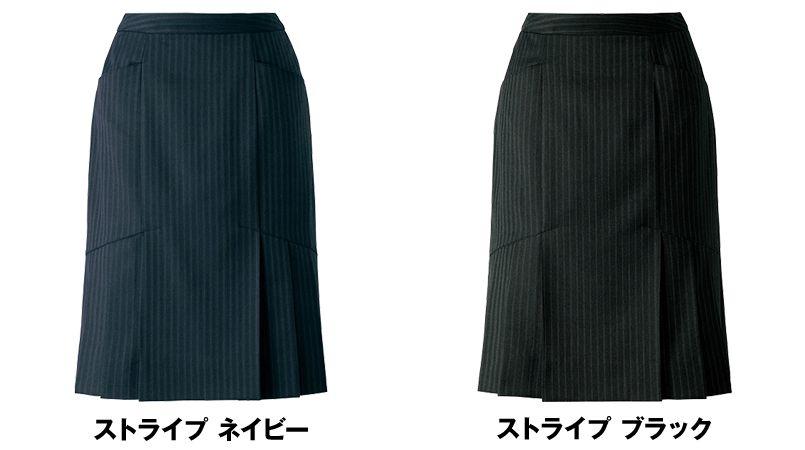 AR3847 アルファピア [通年]セミタイトスカート ストライプ[防シワ商品] 色展開