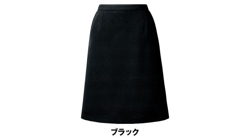 [在庫限り/返品交換不可]AR3860 アルファピア [通年]Aラインスカート スパイラルカルゼ 無地 色展開