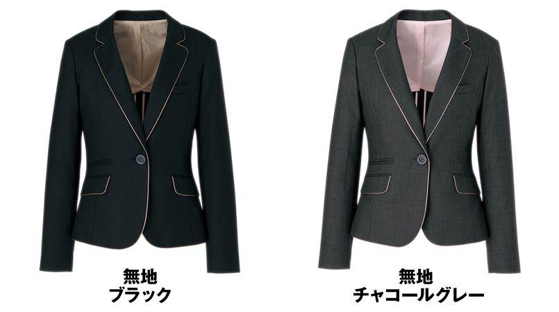 AR4840 アルファピア [秋冬用]ジャケット カラーパイピング ミニヘリンボーン 色展開