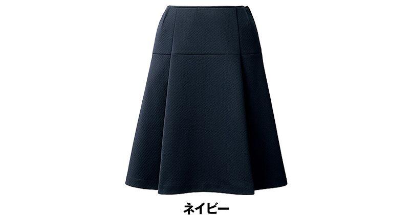 [在庫限り/返品交換不可]YT3913 ユキトリイ [秋冬用]フレアースカート ニット 無地 色展開