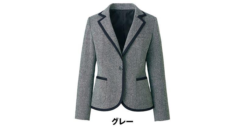 ユキトリイ YT4910 [通年]リッチなツイード素材のエレガンス・ジャケット 色展開