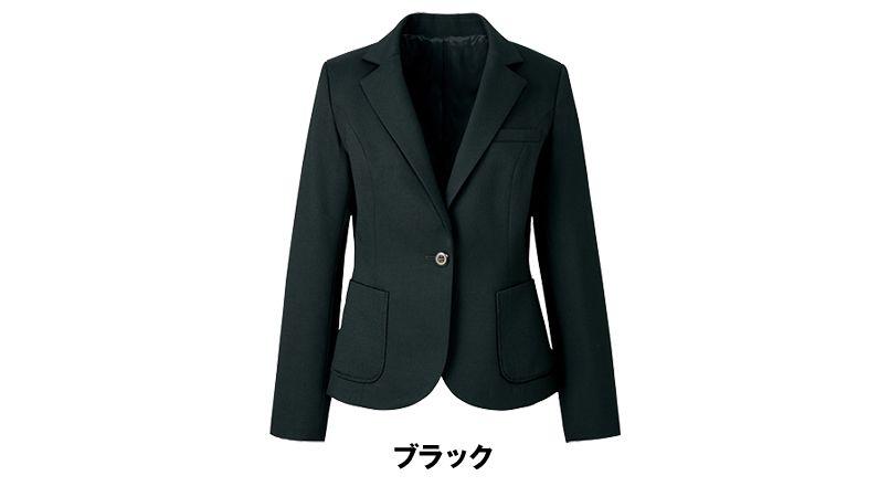 ユキトリイ YT4911 [通年]漆黒のツイード素材がクールな印象のジャケット 色展開
