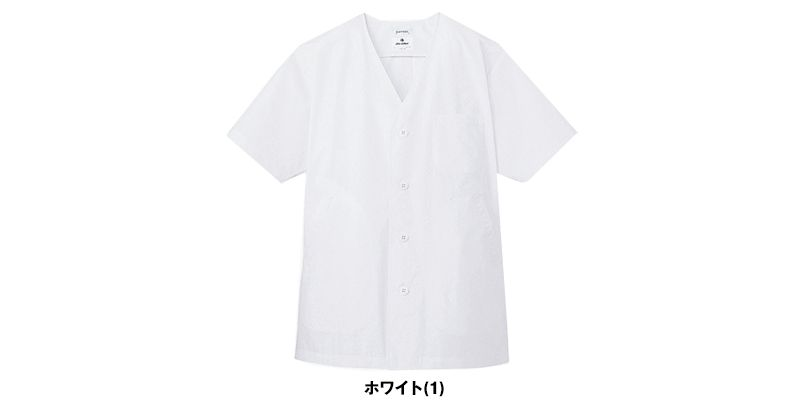 AB-6402 チトセ(アルベ) 白衣/半袖/襟なし(男性用) 色展開
