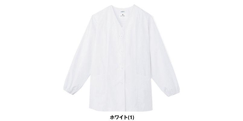 AB-6403 チトセ(アルベ) 白衣/長袖/襟なし(女性用) 色展開