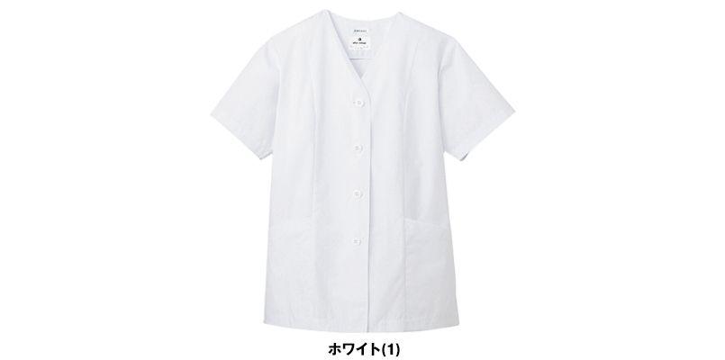 AB-6405 チトセ(アルベ) 白衣/半袖/襟なし(女性用) 色展開